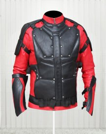 Will Smith Red And Black Leather Jacket