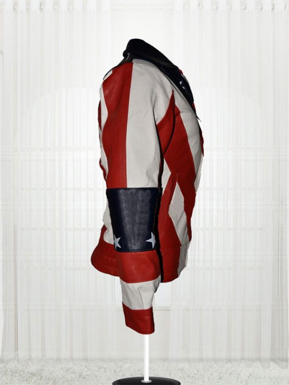 Womens American Flag Leather Biker Jackets