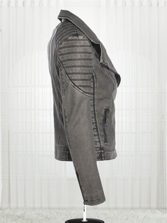 Women's Antique Biker Leather Jacket