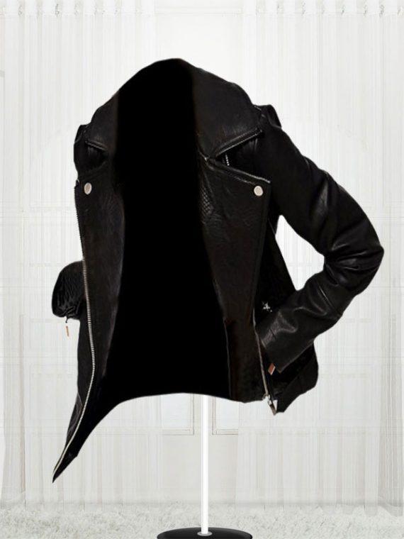 Women's Slim Fit Biker Black Stylish Jacket