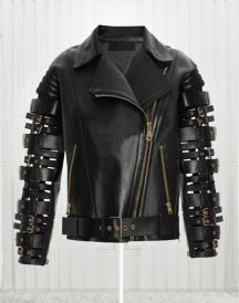 Zendaya Coleman Women Qualited Black Biker Jacket
