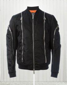 Zip Trim Classic Black Bomber Jacket