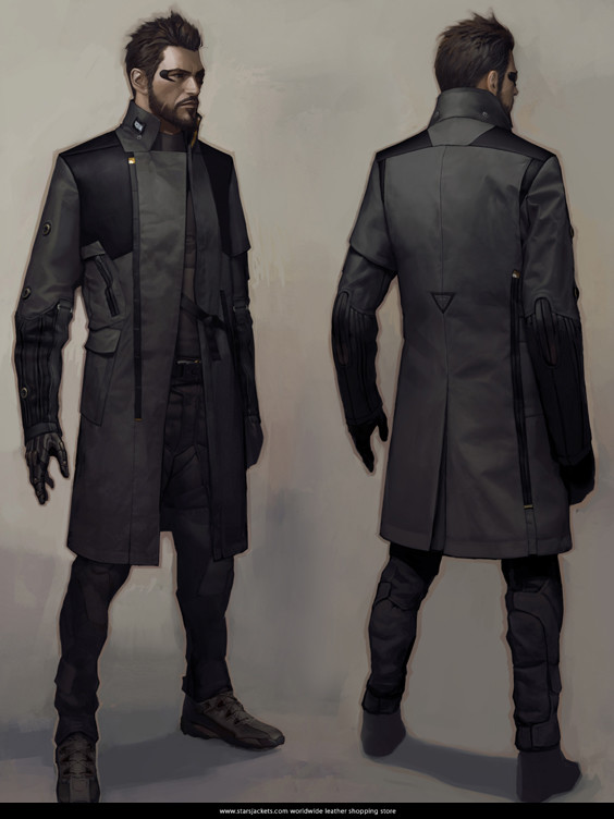 Adam Jensen Deus Ex Mankind Divided Black Coat