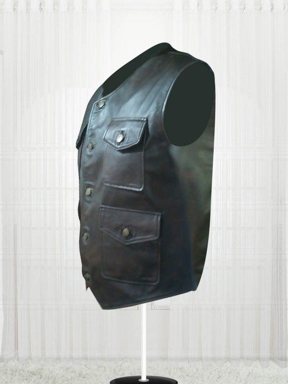 Genuine Lambskin Cargo Brown Vests