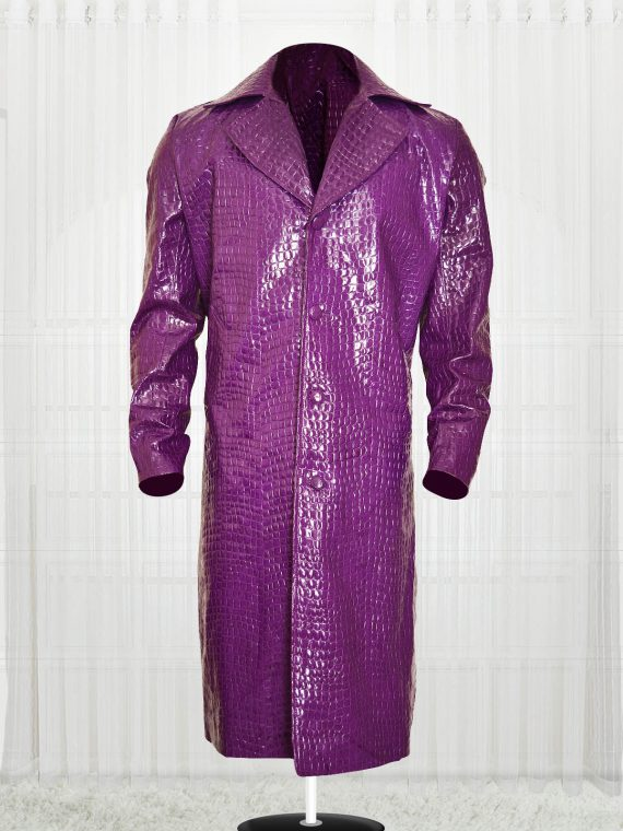 Jared Leto Suicide Squad Joker Crocodile Coat