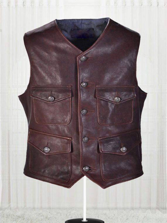 Men's Genuine Lambskin Cargo Vest