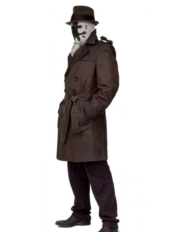 Watchmen Jackie Earle Haley Leather Brown Coat