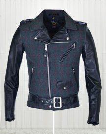 Wool-Genuine Cowhide Leather Jacket