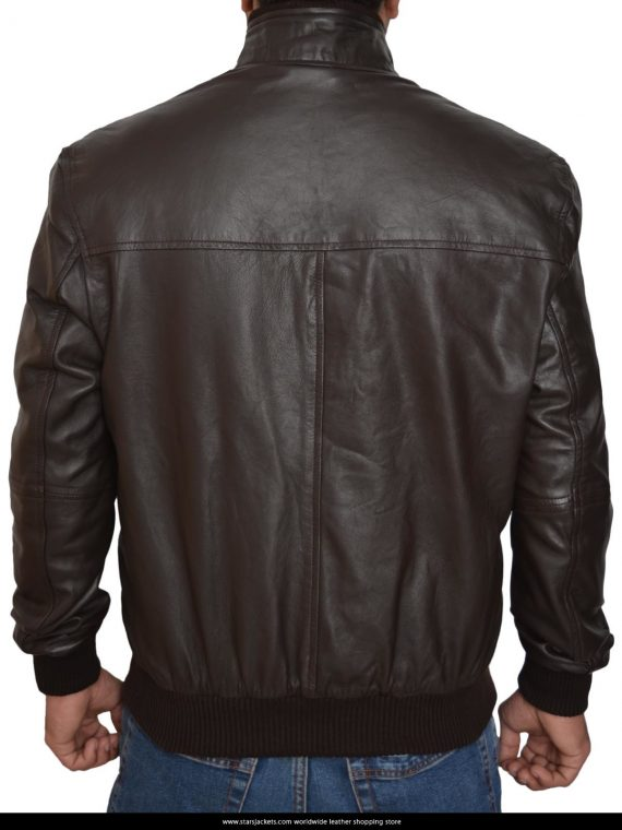 6 Pocket Slim Fit Bomber Leather Jackets