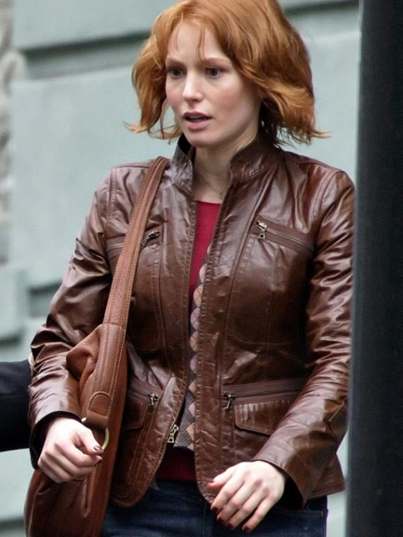 88 Minutes Movie Alicia Witt Leather Jacket
