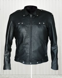 Aaron Paul A Long Way Down Black Leather Jacket