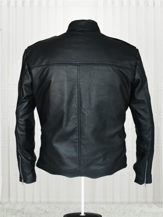 Aaron Paul A Long Way Down Black Leather Jackets