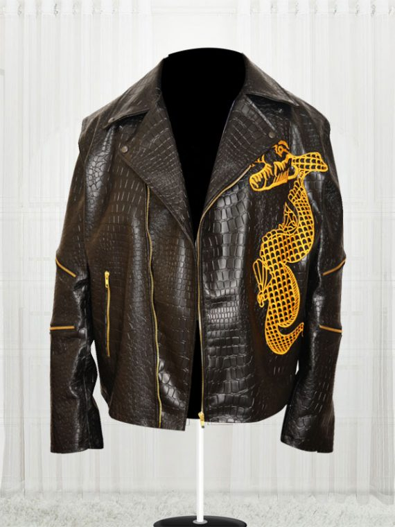 Adewale Suicide Squad Killer Croc Dragon Leather Jacket