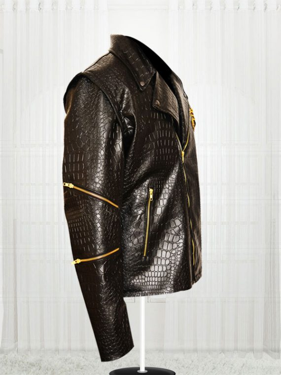 Adewale Suicide Squad Killer Croc Dragon Leather Jackets