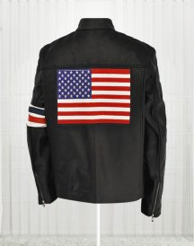 American Flag Jacket - Black Leather Motorcycle Jackets