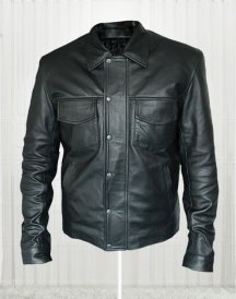 American Singer Adam Lambert Black Leather Jacket