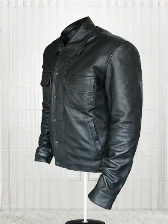 American Singer Adam Lambert Black Leather Jacket For Men