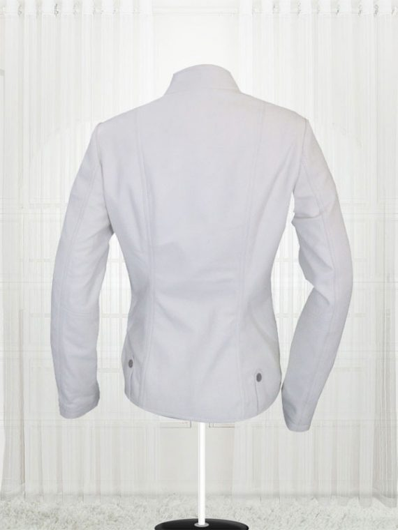 Anne Hathaway Get Smart White Leather Jackets