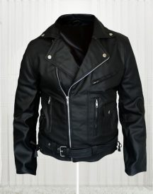 Arnold Schwarzenegger Terminator Movie Biker Black Leather Jacket