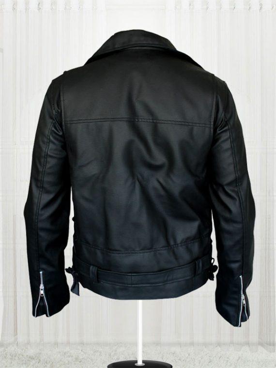 Arnold Schwarzenegger Terminator Movie Biker Black Leather Jackets
