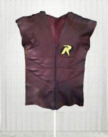 Batman Arkham City Gaming Robin Leather Vest