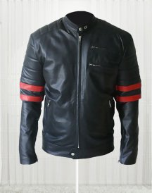 Brad Pitt Black and Red Leather Fight Club Jacket