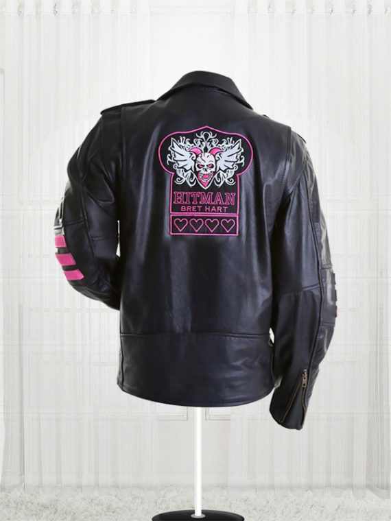 Bret The Hitman Hart WWE Real Leather Jacket