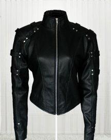 Caity Marie Lotz Arrow Season 2 Black Jacket