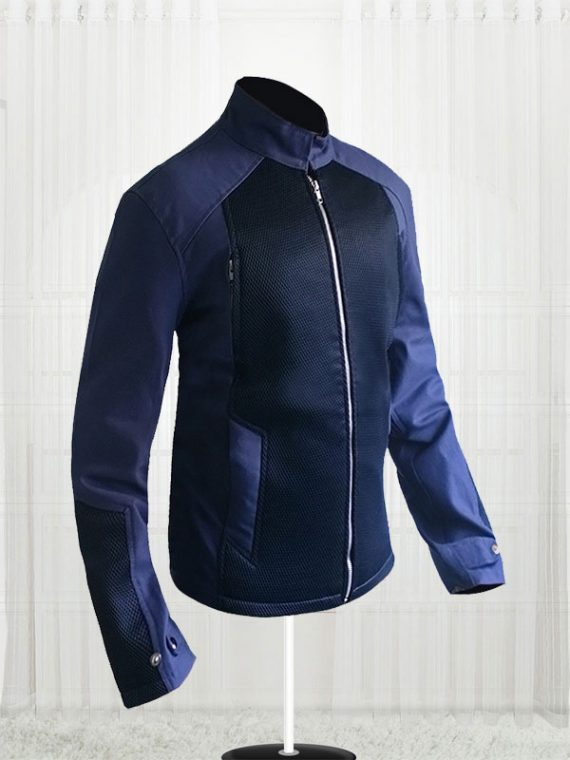 Captain America Steve Rogers Blue Cotton Jacket