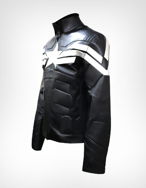 Captain America Winter Soldier Black Leather Jackets
