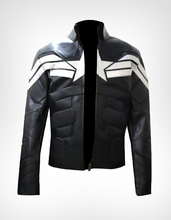 Captain America Winter Soldier Black Men Jacket