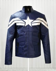 Captain America Winter Soldier Blue Jacket