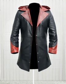 Devil May Cry Red & Black Authentic leather Jacket