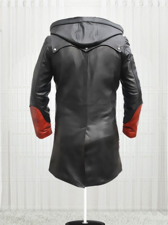 Devil May Cry Red & Black Cowhide leather Jacket