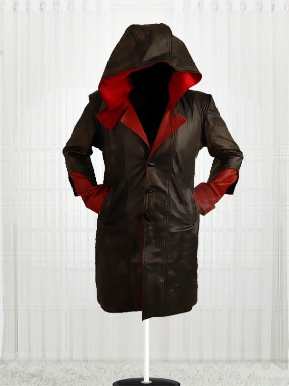 Devil May Cry Red & Black Cowhide leather Jackets