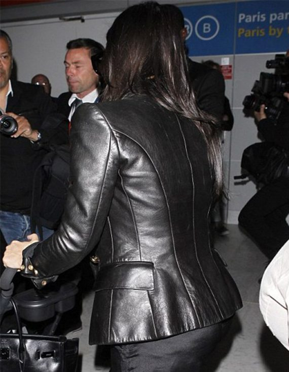Fabulous Paris Kim Kardashian Leather Women's Jacket