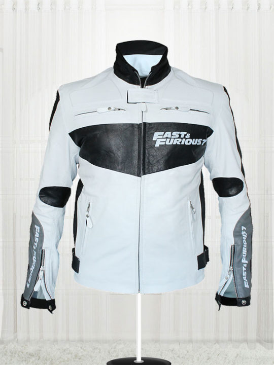 Fast And Furious 7 Vin Diesel White Jacket For Men
