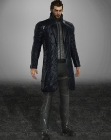 Human Revolution Adam Jensen men's trench Leather Coat