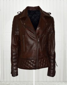 Kay Michael Quilted Brown Leather Men Jackets