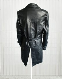 Lauren Pope Black Leather Jacket Coats
