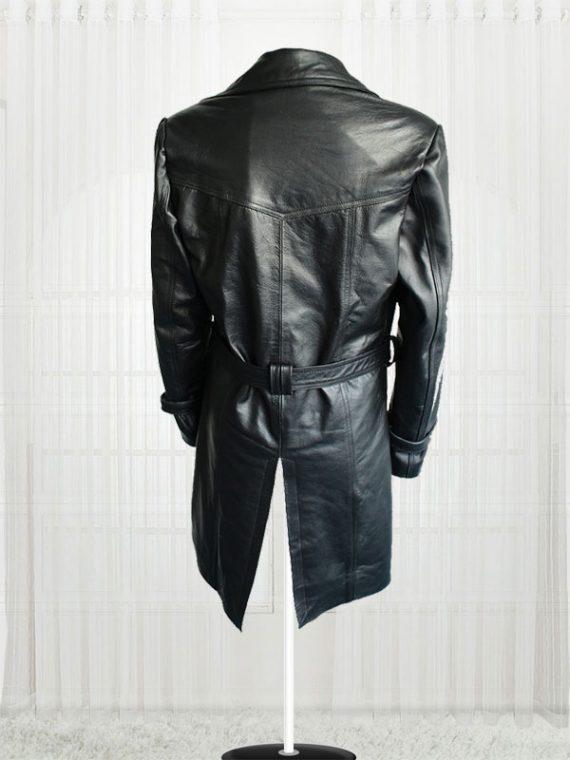 Lauren Pope Black Leather Jacket Coats