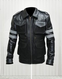 Leon Kennedy Game Resident Evil 6 Leather black Jackets