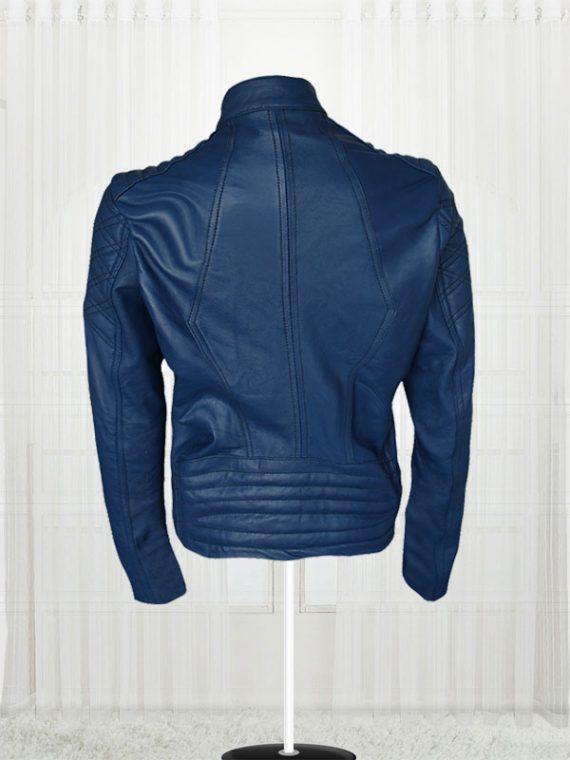 London Studio Susanna Reid Blue leather Jackets