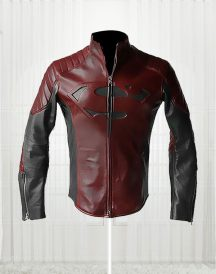 Man Of Steel Clark Kent Red & Black Jacket