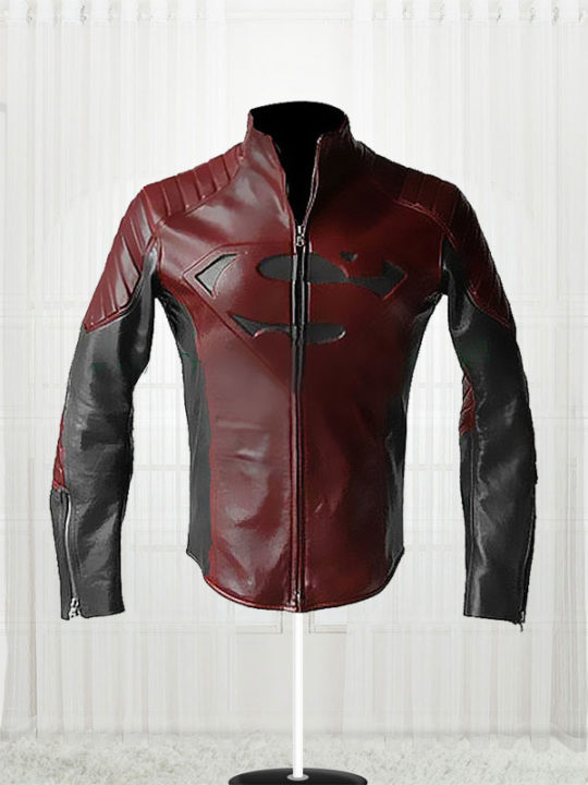 Man Of Steel Clark Kent Red & Black Jacket