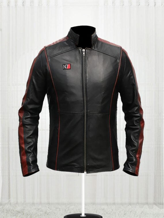 Mass Effect 3 Game N7 Leather Jackets