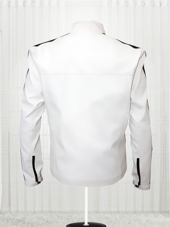Need For Speed White Aaron Paul Leather Jacket