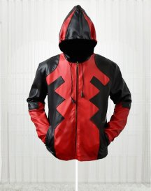Popular Deadpool Motorcycle Hoodie Leather Jacket