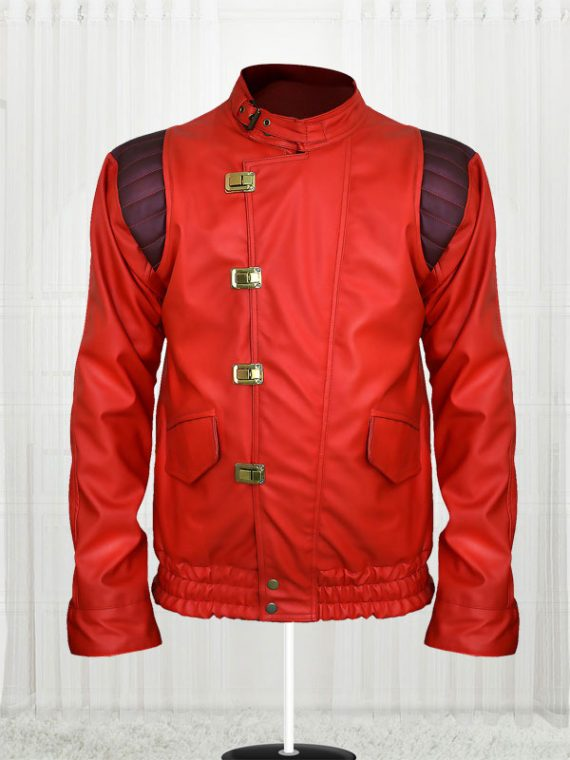Red Akira Kaneda Leather Jacket for Mens