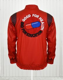 Red Akira Kaneda Leather Jackets for Mens